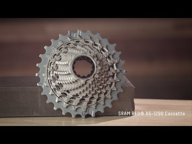 Видео Кассета Sram XG-1290-D1 10-26T 12-speed серебристо-бежевая