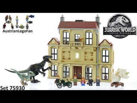 Vidéo LEGO Jurassic World 75930 : La fureur de Indoraptor à Lockwood Estate
