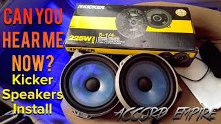 Installing Kicker Speakers on 2004 Honda Accord
