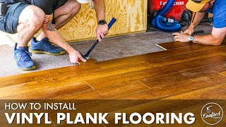 How To Install Vinyl Plank Flooring Tutorial For Beginners // Home Reno
