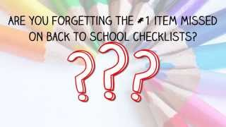 Back to School - Are you missing something?