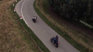 DJI FPV Race Drone Chasing Motorcycle