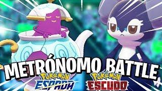 Indeedee  - (Pokémon) - ¡¡POLTEAGEIST vs INDEEDEE!! - Metrónomo Battle en Pokémon ESPADA y ESCUDO con @Tiasmile