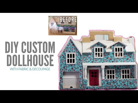 Easy DIY Customized Toddler Dollhouse with Decoupage | MAKE