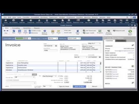 QuickBooks Enterprise v14 Demonstration - YouTube