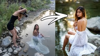 River PhotoShoot Behind The Scenes, How I Take Natural Light Portraits