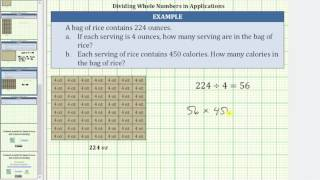 Divide and Multiply Whole Numbers to Solve Applications