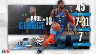 Paul George Lights Up for 45 Points & a Game Winner vs Jazz | February 22nd, 2019