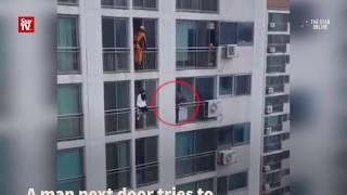 Suicidal woman rescued from eighth floor of flat