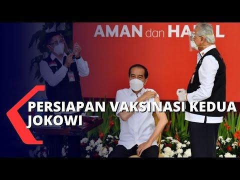 Persiapan untuk Presiden Joko Widodo Lakukan Vaksinasi Covid-19 Kedua