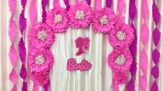 Birthday Party Decoration Ideas At Home | Easy Paper Flowers Birthday Decoration Ideas At Home |