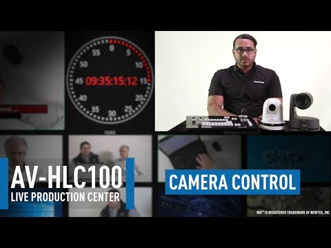 AV-HLC100 Live Production Center: Configuring & Using PTZ Controls