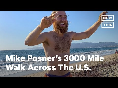 Mike Posner Finishes 3,000 Mile Walk Across America | NowThis