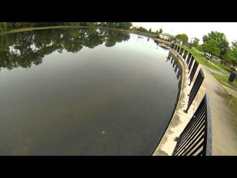 Houston Bass fishing (DOA Airhead) Bane Park 720p HD