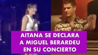 AITANA SE DECLARA A MIGUEL BERARDEU En Su Concierto En El Teatro Real
