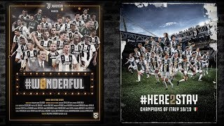 Ladies and Gentlemen, welcome to the Juventus show!  #W8NDERFUL + #HERE2STAY