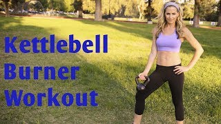 35 Minute Kettlebell Burner Workout for Total Body Strength & Cardio by BodyFit By Amy