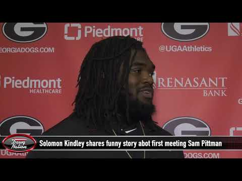 Georgia OL Solomon Kindley shares details of Humorous first meeting with Sam Pittman