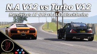 Mercedes SL65 AMG Black Series vs Lamborghini Murcielago