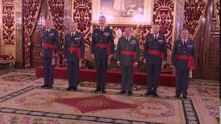 Audiencia de S.M. el Rey a un grupo de generales de división
