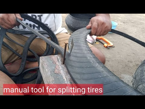 Manual tool for splitting tire