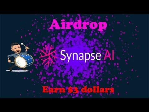 Ganhe $3 Dólares no Airdrop ⭐⭐⭐⭐⭐ Synapse AI ! Mais fácil da vida.
