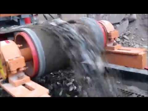chancadora de piedra movil-con tolva y alimentacion vibratoria, trituradora con motor Diesel