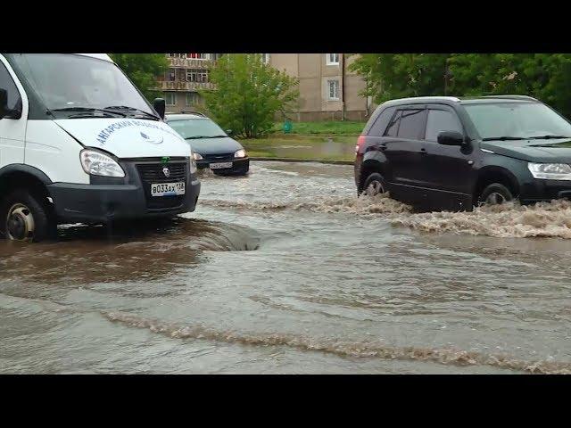 В Ангарске затопило улицы и дворы