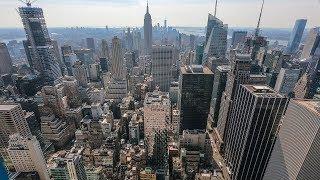 Нью-Йорк с высоты птичьего полёта. Что осталось от башен близнецов.
