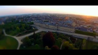 preview picture of video 'Coucher de Soleil sur Le Château de Compiègne - FPV'