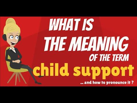 What is CHILD SUPPORT? What does CHILD SUPPORT mean? CHILD SUPPORT meaning & explanation