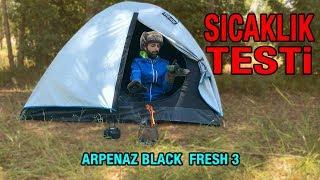 Quechua Arpenaz 3 Fresh & Black Zelt Test und Hitzetest