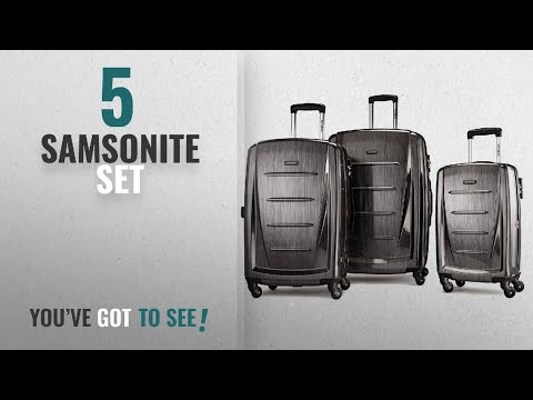 Top 10 Samsonite Set [2018]: Samsonite Winfield 2 3PC Hardside (20/24/28) Luggage Set, Charcoal