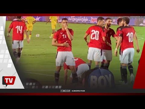 احتفال غريب من مصطفى محمد عقب إحرازه الهدف الأول بمرمى جنوب أفريقيا