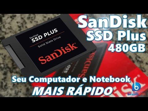 Acelere seu computador com o SSD Plus da Sandisk! Análise em Português