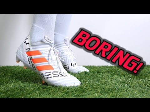 MESSI'S CLEATS ARE BORING! – Adidas Nemeziz Messi 17.1 (Pyro Storm) – Review + On Feet