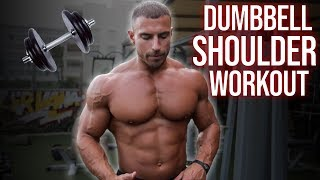 Home Shoulder Workout with Only Dumbbells
