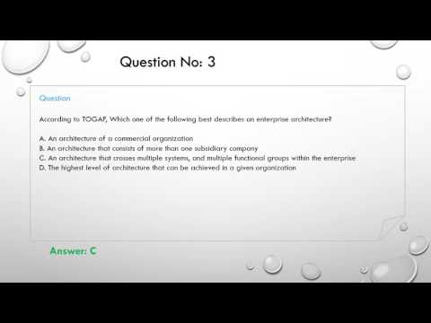 TOGAF exam questions - YouTube