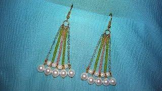 Seed Bead Chandelier Earrings Making / Tutorial / DIY
