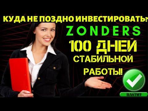 КУДА МОЖНО ИНВЕСТИРОВАТЬ? ⚡ZONDERS⚡ 100 дней работы
