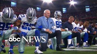 Dallas Cowboys, Jerry Jones take knee before national anthem | Kholo.pk