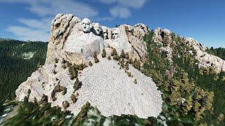 Extreme Landing+Takeoff at Mount Rushmore, South Dakota, USA, in Microsoft Flight Simulator 2020