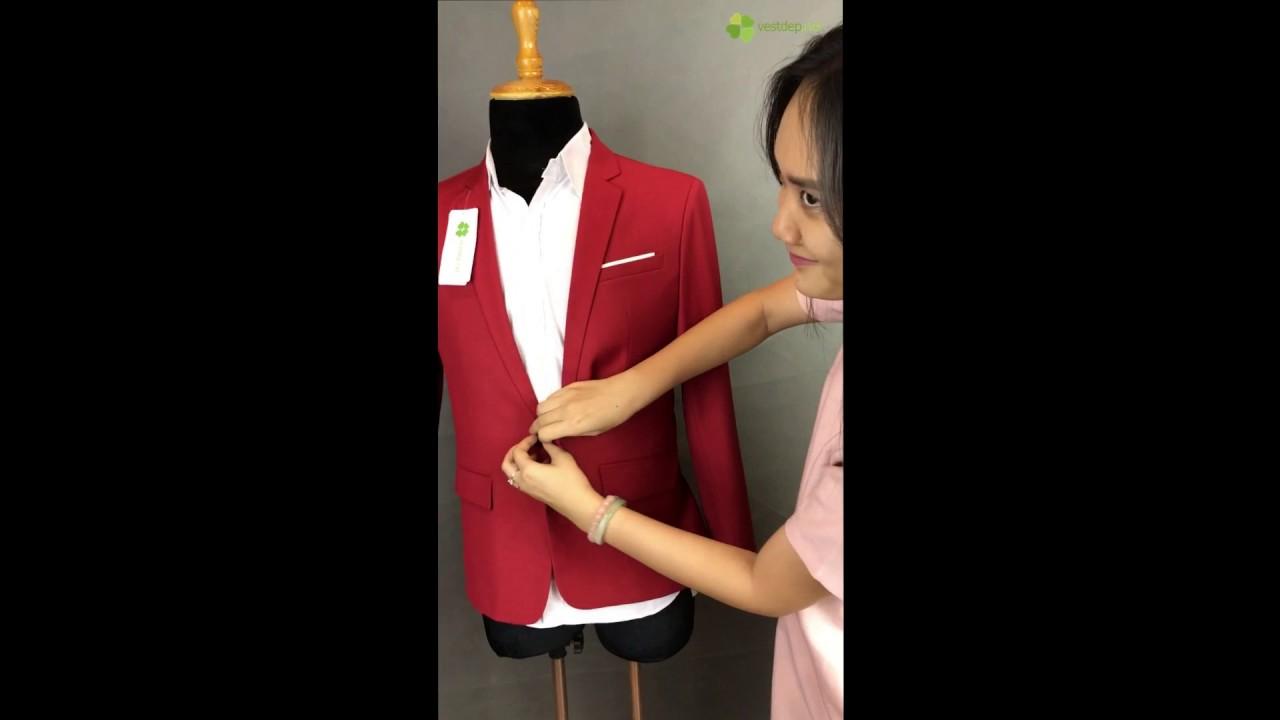 Video vest nam màu đỏ hồng