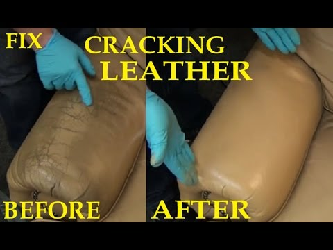 Video FIX CRACKING LEATHER - LEATHER REPAIR VIDEO *****