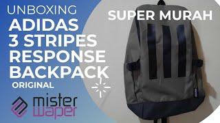 ADIDAS DISKON BESAR || UNBOXING ADIDAS 3 STRIPES RESPONSE BACKPACK