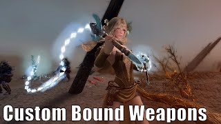 Skyrim Mods: Custom Bound Weapons with Unique Animations
