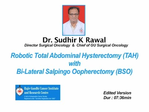 Robotic Total Abdominal Hysterectomy with Bi- Lateral Salpingo Oopherectomy - Unedited