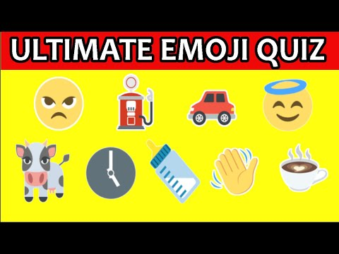 ULTIMATE Emoji Quiz - including Fruits, Biscuits, Street Foods, candies and countries