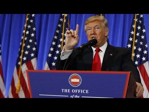 Trump Dismisses Russia Dossier in Press Conference