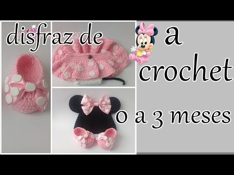 disfraz de minnie mouse a crochet para bebe